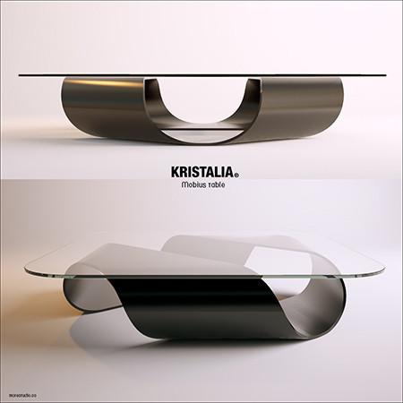 Mobius table(麦比乌斯环 茶几)