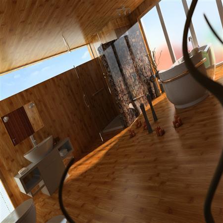 浴室和客厅