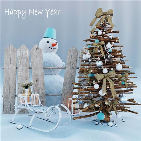 新年 圣诞节 装饰  圣诞树 New Year