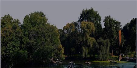 城市公园一景 空间 场景 scene