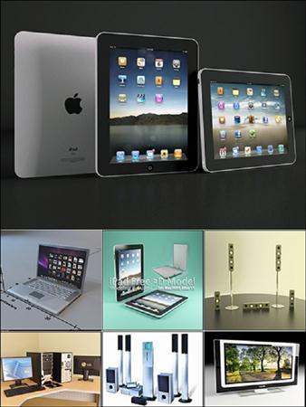 电脑、显示器、音像设备等组合