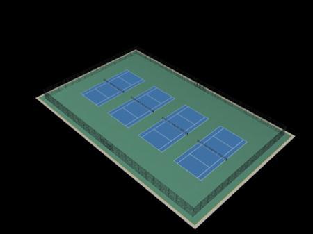 Evermotion Archmode 运动器材 网球场