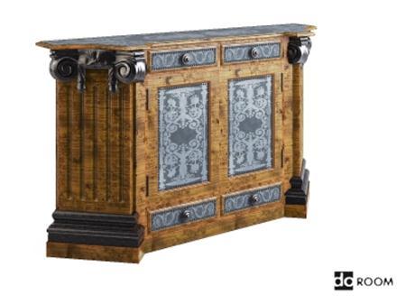 古典家具模型 Theodore Alexander Pedestal 6121 026