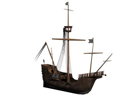 奇幻风格木船 06