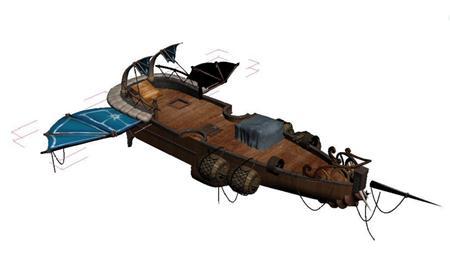 奇幻风格木船 09