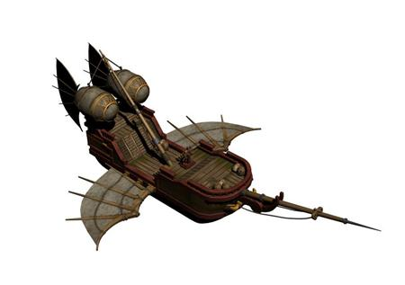 奇幻风格木船 012
