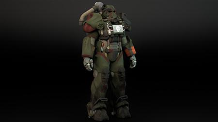 《辐射4》T60动力装甲3D模型 FALLOUT4_Model_T60