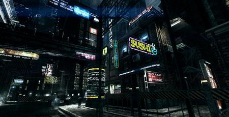 unity3d游戏场景模型超精美黑夜城市3D模型
