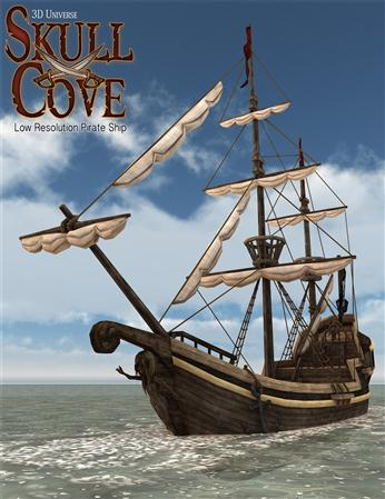 头骨湾 船 Skull Cove Pirate Ship