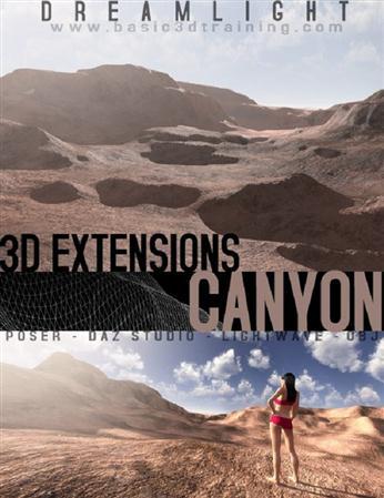 峡谷的难题 Canyon for poser 女人 场景