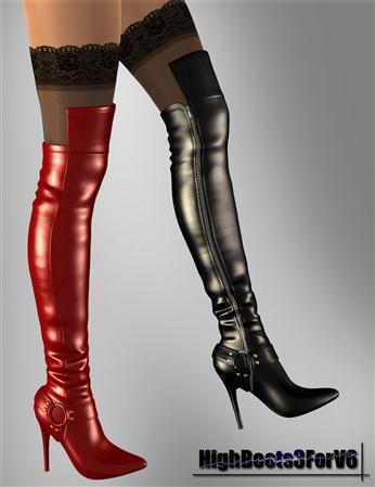 皮质 高筒靴 过膝靴  高跟鞋 High Boots