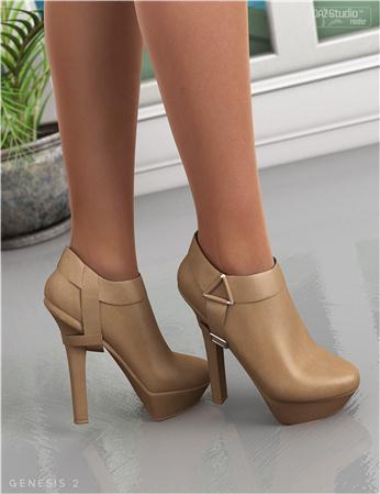 皮鞋 高跟短靴 OziStyle for Strapped Ankle Boots