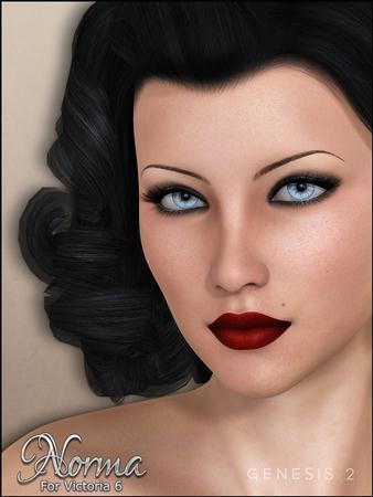 黑发碧眼红唇  美人一枚 诺尔玛 Norma