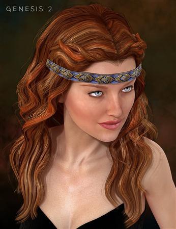 美丽长发的女人 Udane Hair
