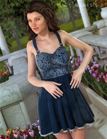 紫色裙子的女人 花园的礼服 Garden Party Dress