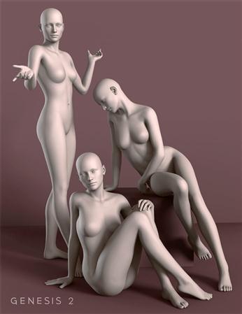 女性 模特 雕塑 形态 休闲的性感姿势 Casual Sexy Poses