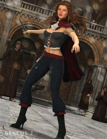 披斗篷的流氓  女人 Caped Rogue