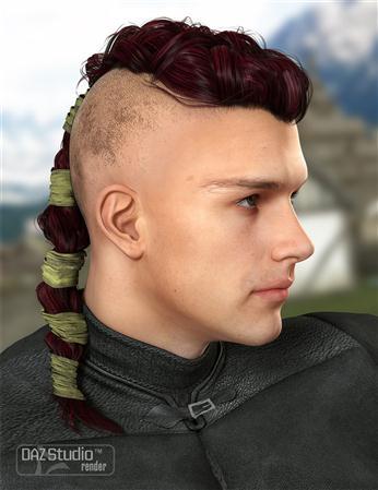 男人 头发 辫子 颜色维京男性的头发 Colors for Viking Male Hair