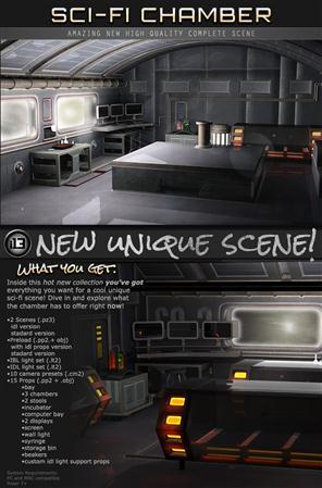 未来实验室 科幻 实验室 Sci-Fi Chamber