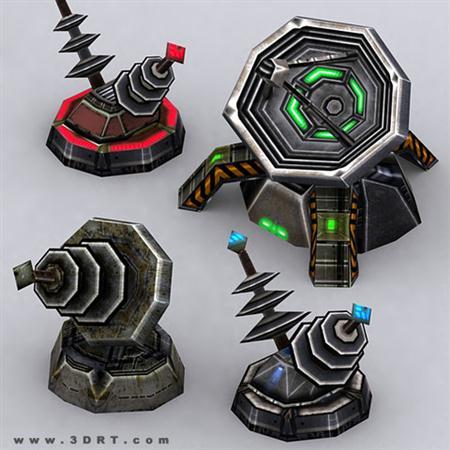 unity3d游戏模型Wargear Turrets超级地面炮塔模型