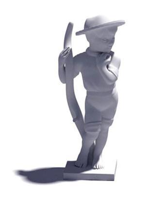 小男孩雕塑