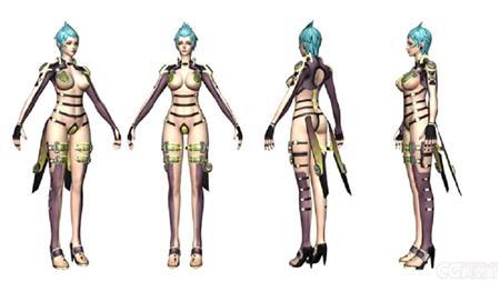《女王之刃》性感女角色3D模型