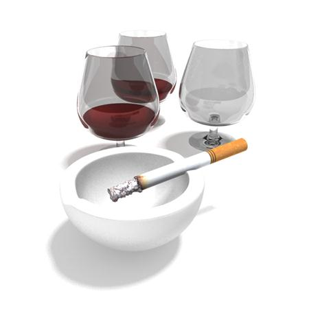 酒杯 烟灰缸