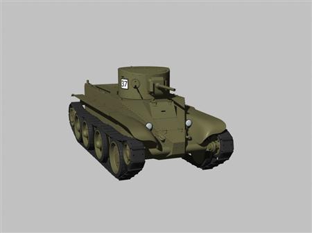 二战苏联坦克BT2