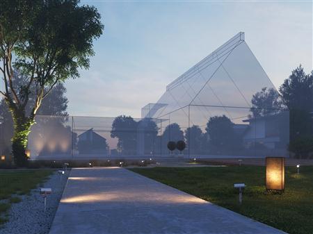 别墅住宅外墙场景3D模型第一季 外墙场景模型 场景8