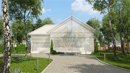 别墅住宅外墙场景3D模型第一季 外墙场景模型 场景4