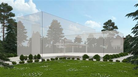 别墅住宅外墙场景3D模型第一季 外墙场景模型 场景7