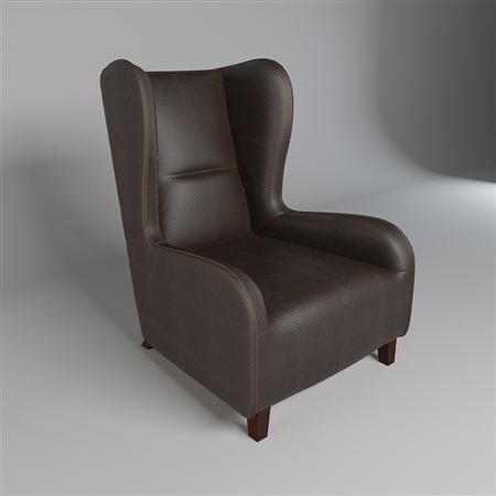 精致的黑色沙发