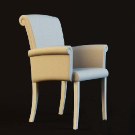 白色的扶手椅