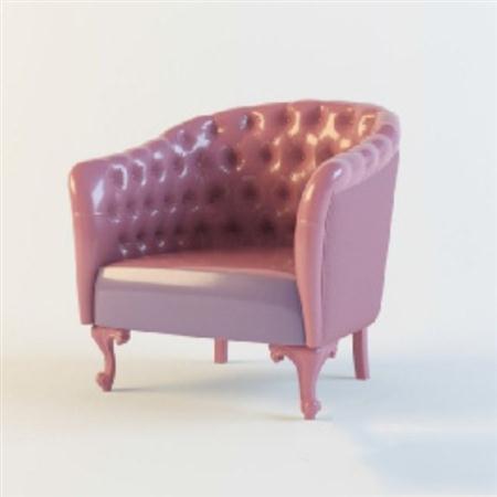 粉红色的沙发