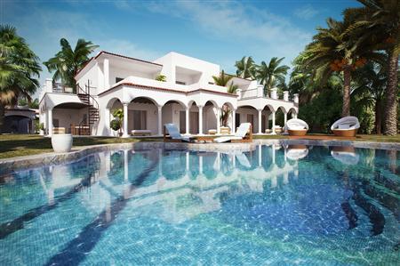 别墅住宅3D模型第二季 带大泳池的欧洲别墅 场景2