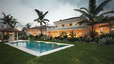别墅住宅3D模型第二季 带小泳池的热带别墅 场景3