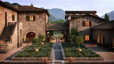 别墅住宅3D模型第二季 制作精美的中式农庄 场景6