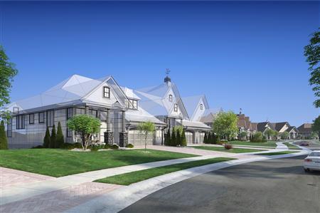 别墅住宅3D模型第二季 别墅群 场景1