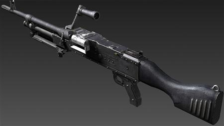 武器装备3D模型 英国7.62毫米L7A2通用机枪