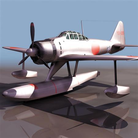 飞机3D模型系列 19-20世纪飞机历史博物馆 零式战斗机 A6M2N