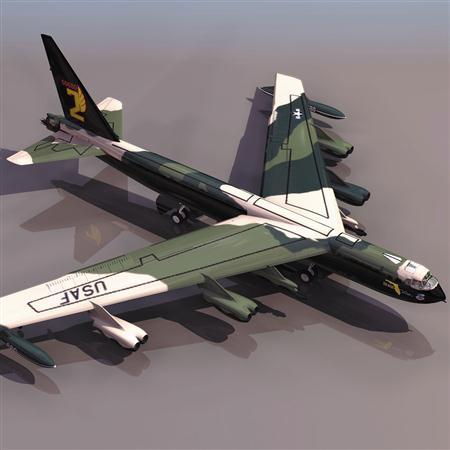 飞机3D模型系列 19-20世纪飞机历史博物馆 B-52轰炸机
