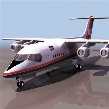 飞机3D模型系列 19-20世纪飞机历史博物馆 BAe 146