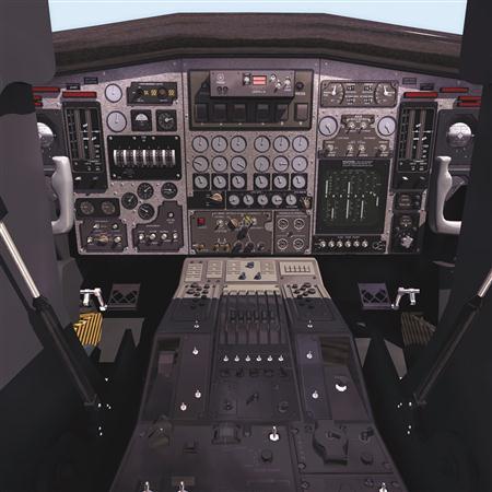 飞机3D模型系列 19-20世纪飞机历史博物馆 飞机驾驶舱