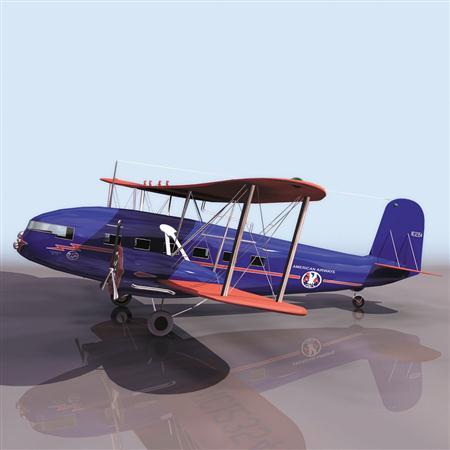 飞机3D模型系列 19-20世纪飞机历史博物馆 柯蒂斯飞机