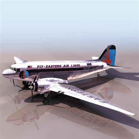飞机3D模型系列 19-20世纪飞机历史博物馆 东方航空民航机