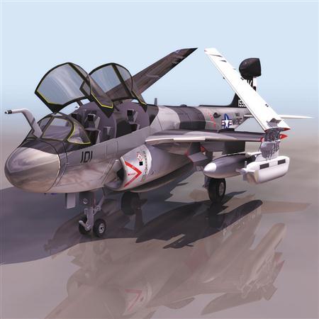 飞机3D模型系列 19-20世纪飞机历史博物馆 徘徊者 EA-6B
