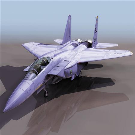 飞机3D模型系列 19-20世纪飞机历史博物馆 F-15鹰式战斗机