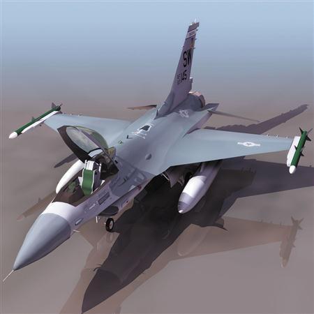 飞机3D模型系列 19-20世纪飞机历史博物馆 F16战斗机