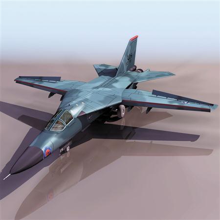 """飞机3D模型系列 19-20世纪飞机历史博物馆 F-111""""土豚"""""""