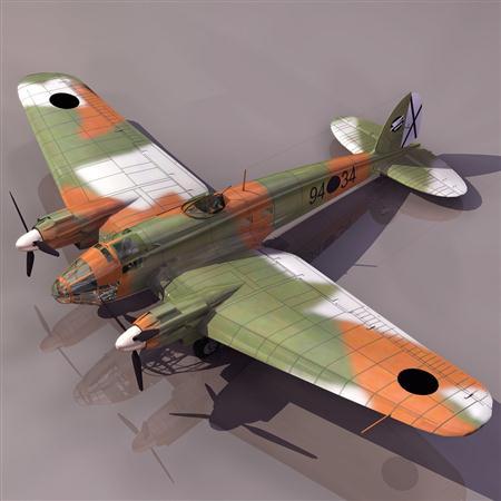 飞机3D模型系列 19-20世纪飞机历史博物馆 亨克He 219